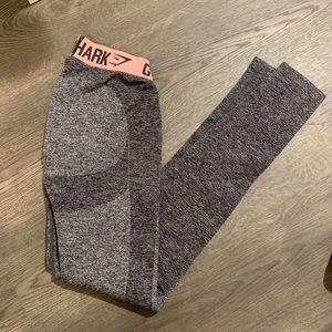 Gently used pink/gray flex leggings